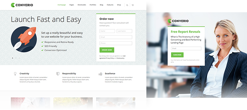 conversion and ux optimized